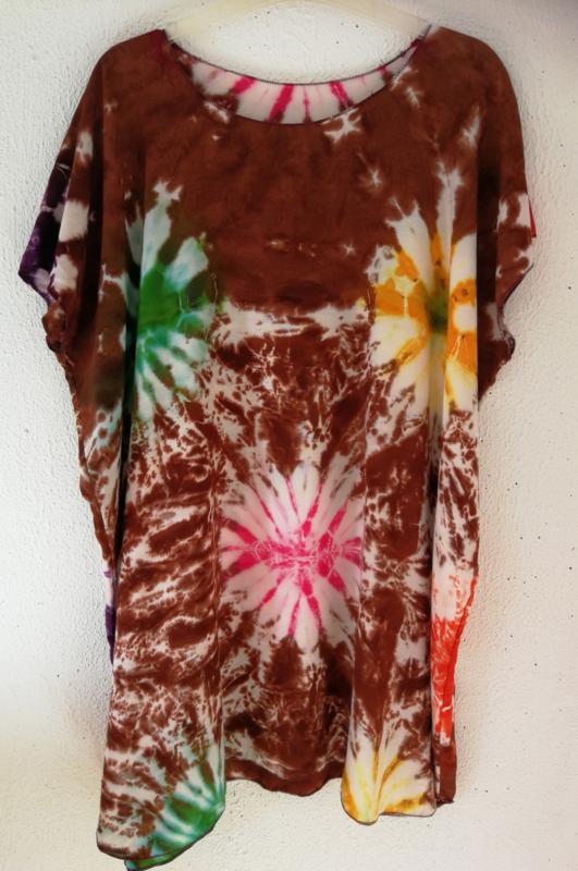 Shirt MSVA. Mooiste Shirt Van Allemaal. Maat 44/52 wijdte 130cm 100% rayon