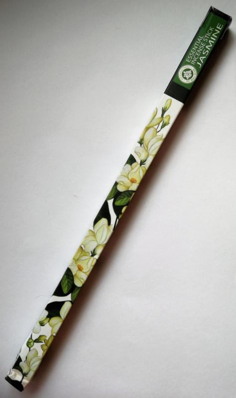 Helende aromatherpie. Jasmine wierook sticks. Niet walmend door unieke bewerking. Ondergedompeld in pure bloemenolie. Brandtijd 45 minuten per stick.  Inhoud 10 sticks