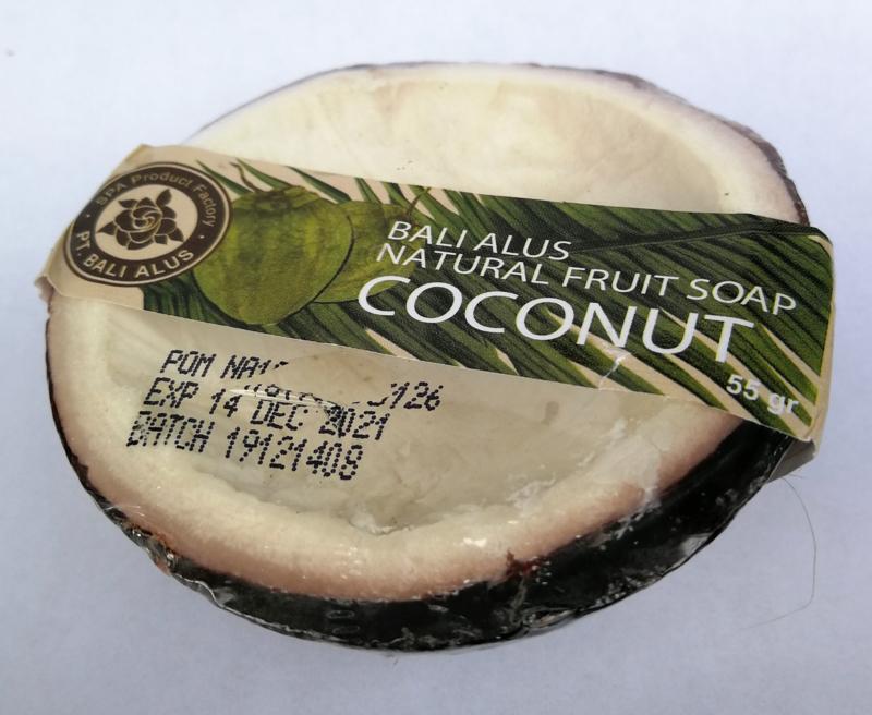 Kokosnootzeep. Tropische vrucht uit Z.O. Azie. 100% Organic. 55 gram.