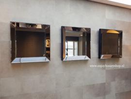 COMBI SET: 3x Spiegellijst (50x50) brons