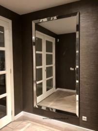 XL spiegel met spiegelrand ZILVER of BRONS  (210x110)