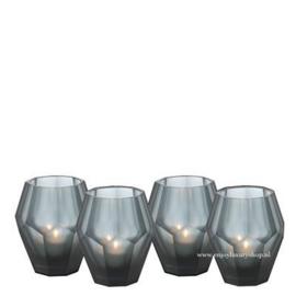 EICHHOLTZ Windlicht Theelicht houder OKHTO - blauw glas (S set 4 stuks)