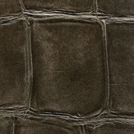Exclusief Croco behang - vintage zwart bruin BC331