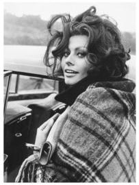 Spiegellijst met Sophia Loren 'outside'