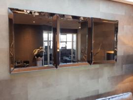 COMBI SET: 3x Spiegellijst (70x90) brons