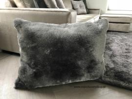 Luxe velours  fluweel vloerkleed - Cosy Grey (N24)