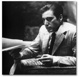 Spiegellijst met poster The Godfather 1974 | Al Pacino (50x50)