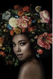 AluArt Kunstwerk - Flower Power portrait