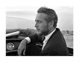 Spiegellijst met Paul Newman