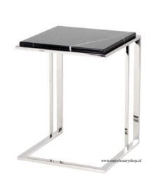 EICHHOLTZ Bijzettafel Side Table Cocktail RVS + Marmer