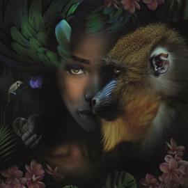 AluArt Kunstwerk - Monkey and me