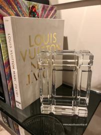 EICHHOLTZ Boekenhouder - Bookend Linea Crystal Glass (set van 2)