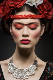 AluArt Kunstwerk - Beautiful Young woman