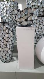 Luxe sokkel zuil in hoogglans wit (25x25x70)