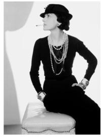 Spiegellijst met Coco Chanel 'cigarette'