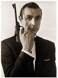 Spiegellijst met James Bond Pistool 2