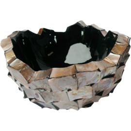 Schelpenvaas Bowl (40cm) opgemaakt met bloesems