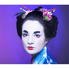 AluArt Kunstwerk - Asian Girl blue