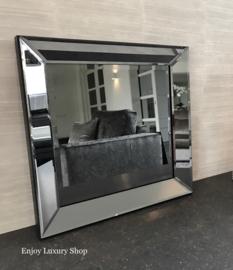 Spiegel met spiegellijst Antraciet (50x50)
