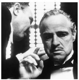 "Spiegellijst met poster The Godfather ""Whisper"""