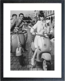 Fotolijst zwart-wit foto 'Vespa'