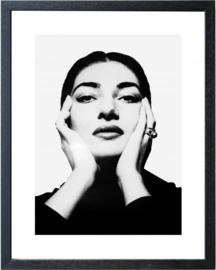 Fotolijst zwart-wit foto Maria Callas