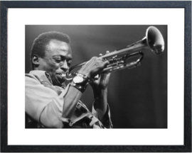 Fotolijst zwart-wit foto 'Trompet'