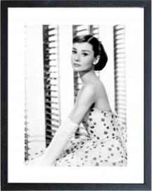 Fotolijst zwart wit foto Audrey Hepburn (4)