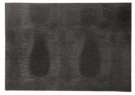 Placemat 'Lizard' van Dôme Deco - kleur zwart
