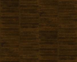 Exclusief palingleer behang motief - bruin brons PAL413