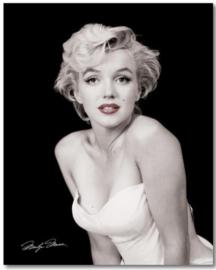 Spiegellijst met poster Marilyn Monroe Red Lips (50x60)