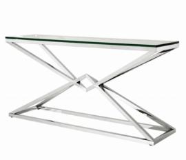 EICHHOLTZ Console Wandtafel Connor - zilver (150cm)