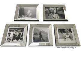 Fotowand 5x foto spiegellijsten (collage DS)