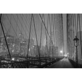 AluArt - Brooklyn Bridge by night 120x180