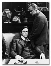 Spiegellijst met poster The Godfather - Al Pacino Marlon Brando (70x90)