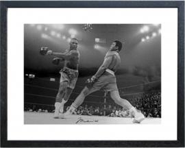 Fotolijst zwart wit foto Muhammad Ali vs. Joe