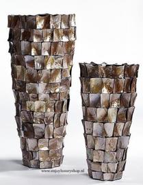 Hoge schelpenvaas bruin 60cm (Bo)