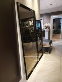 Luxe Spiegel met spiegelrand ZILVER of BRONS  (180x80)