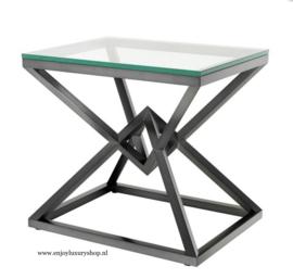EICHHOLTZ Bijzettafel Side Table Connor - zwart brons