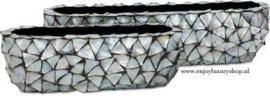 Schelpenbak breed - zilver 90cm
