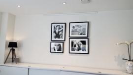 Combiset 4x fotoprint zwart-wit ingelijst (D)