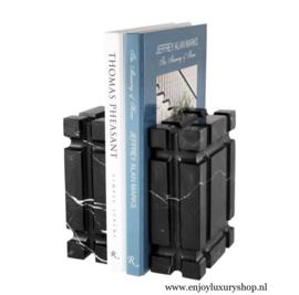 EICHHOLTZ Boekenhouder - Bookend zwart natuursteen (set van 2)