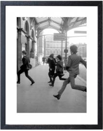 Fotolijst zwart-wit foto Beatles (M 40,5 x 50,5)