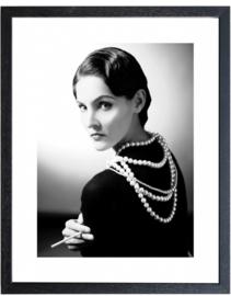 Fotolijst zwart-wit foto Chanel (M 40,5 x 50,5)