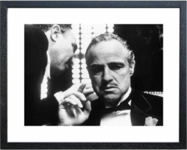 Fotolijst zwart wit foto The Godfather Whisper