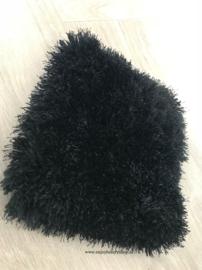 Luxe velours vloerkleed - Velvet Black (L25)