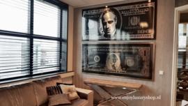 AluArt - Dollar Godfather GLAM009 Zilver (90x200)