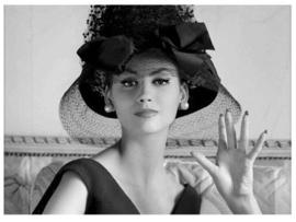 Spiegellijst Audrey Hepburn with hat
