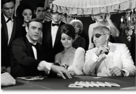 Spiegellijst met poster James Bond Casino (90x70)