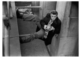 Spiegellijst met James Dean Camera'